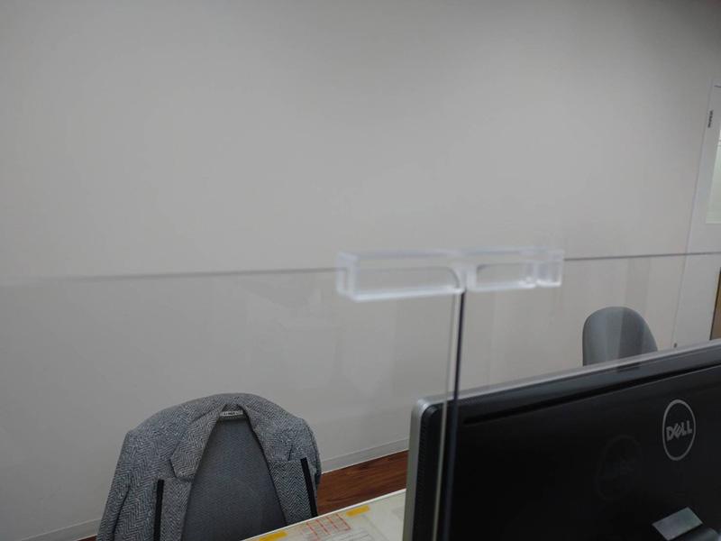 飛沫感染防止対策パーテーション画像